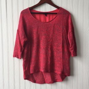 MOSSIMO Red Hi-lo Sheer Sweater Size XL